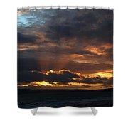 Bournemouth Sunset Shower Curtain