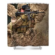 Hdr Image Of A German Army Soldier Shower Curtain