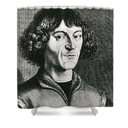 Nicolaus Copernicus, Polish Astronomer Shower Curtain by Science Source
