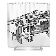 Screw-making Machine Shower Curtain