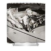 Silent Film: Automobiles Shower Curtain