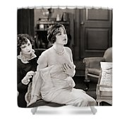 Silent Still: Bedroom Shower Curtain by Granger