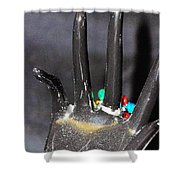 The Black Hand Shower Curtain