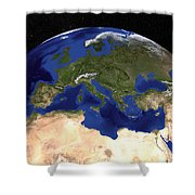 The Blue Marble Next Generation Earth Shower Curtain