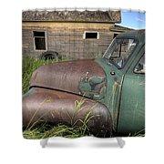 Vintage Farm Trucks Shower Curtain