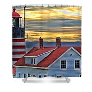 West Quoddy Head Lighthouse 3822 Shower Curtain