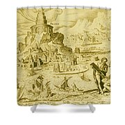 7 Wonders Of The World, Lighthouse Shower Curtain