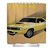 70 Cuda Shower Curtain