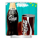 70's Coke Shower Curtain