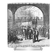 Andrew Johnson (1808-1875) Shower Curtain
