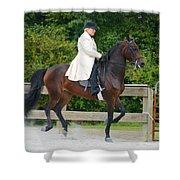Class 31  Open Saddle Seat Pleasure  Shower Curtain