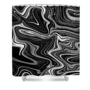 Digital Art Abstract Shower Curtain