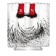 Magnetic Attraction Shower Curtain