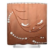 Mama - Tile Shower Curtain by Gloria Ssali