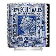 old Australian postage stamp Shower Curtain