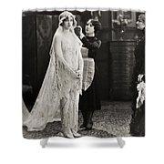 Silent Film Still: Wedding Shower Curtain
