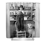 Silent Still: Children Shower Curtain