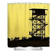 82nd Airborne Division Soldiers Gather Shower Curtain
