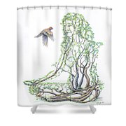 Lotus Dancer Re-imagined Shower Curtain