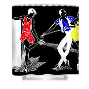 Art Deco Image Shower Curtain