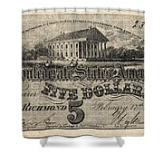 Confederate Banknote Shower Curtain