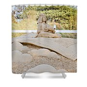 Fairytale Sand Sculpture  Shower Curtain