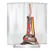 Fluid Coiling Effect Shower Curtain
