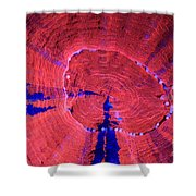 Fluorescent Coral In Uv Light Shower Curtain