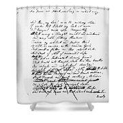Samuel Taylor Coleridge Shower Curtain