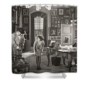 Silent Film Still: Offices Shower Curtain
