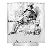 Washington Irving Shower Curtain