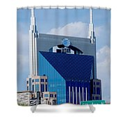 9th Avenue Att Building Nashville Shower Curtain