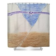 A Balanced View Shower Curtain
