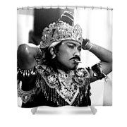 A Balinese Smoke Shower Curtain