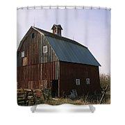 A Barn On A Farm In Nebraka Shower Curtain