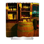 A Barrel And Wine Shower Curtain