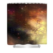 A Beautiful Nebula Out In The Cosmos Shower Curtain