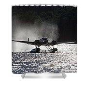 A Beechcraft D-18s Floatplane ,built Shower Curtain