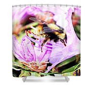 A Bees World Shower Curtain