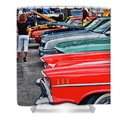 A Blast Of Color - Auto Row 7708 Shower Curtain