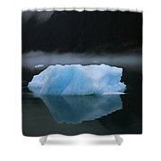 A Blue Iceberg And Its Reflection Shower Curtain