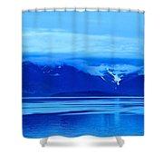 A Blue Slice Of Alaska Coast Shower Curtain