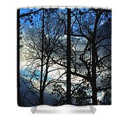 A Blue Winter's Eve Shower Curtain