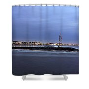 a Boat's Path Shower Curtain