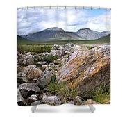 A Boulder Near Loch Garve Shower Curtain
