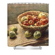 A Bowl Of Apples Shower Curtain