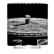 A Bright Spot - Bw Shower Curtain