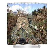 A British Army Sniper Team Dressed Shower Curtain