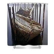A Broken Boat Shower Curtain