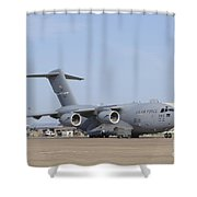 A C-17 Globemaster IIi Parked Shower Curtain